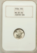 Mercury Dimes: , 1936 10C MS65 Full Bands NGC. NGC Census: (186/275). PCGSPopulation (720/854). Mintage: 87,504,128. Numismedia Wsl. Price...
