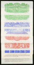 Confederate Notes:Group Lots, Set of Six Chemicograph Backs Intended for Confederate Currency..... (Total: 9 items)
