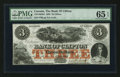 Canadian Currency: , Clifton, PC- The Bank of Clifton $3 Oct. 1, 1859 Ch # 125-10-04-04....