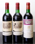 Red Bordeaux, Chateau Lafite Rothschild . 1982 Pauillac 1ts, 1vhs, 2lbsl,1nl, 1tal Bottle (2). Chateau Mouton Rothschild . ... (Total: 3Btls. )