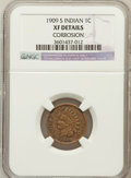 Indian Cents, 1909-S 1C -- Corrosion -- NGC Details. XF. NGC Census: (286/1368).PCGS Population (307/795). Mintage: 309,000. Numisme...