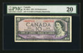 Canadian Currency: , BC-40bA $10 1954 Replacement Note. ...