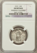 Standing Liberty Quarters, 1919 25C -- Harshly Cleaned -- NGC Details. AU. NGC Census:(16/595). PCGS Population (17/829). Mintage: 11,324,000. Nu...