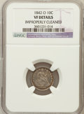 Seated Dimes, 1842-O 10C -- Improperly Cleaned -- NGC Details. VF. NGC Census:(2/60). PCGS Population (3/88). Mintage: 2,020,000. Numism...