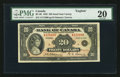 Canadian Currency: , BC-9b $20 1935 Small Seal. ...