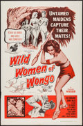 "Movie Posters:Fantasy, The Wild Women of Wongo (Tropical, 1958). One Sheet (27"" X 41""). Fantasy.. ..."