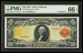 Large Size:Gold Certificates, Fr. 1180 $20 1905 Gold Certificate PMG Gem Uncirculated 66 EPQ.. ...