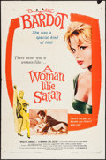 "Movie Posters:Bad Girl, A Woman Like Satan (Lopert, 1959). One Sheet (27"" X 41""). BadGirl.. ..."