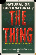 "Movie Posters:Science Fiction, The Thing from Another World (RKO, 1951). One Sheet (27"" X 41"").Science Fiction.. ..."