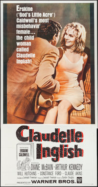 "Claudelle Inglish and Other Lot (Warner Brothers, 1961). Three Sheets (2) (41"" X 80"" and 41"" X 79.5""..."