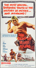 """Movie Posters:War, The Camp on Blood Island and Other Lot (Columbia, 1958). ThreeSheets (2) (41"""" X 79.5"""" and 41"""" X 80""""). War.. ... (Total: 2 Items)"""