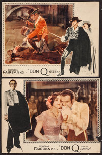 """Don Q, Son of Zorro (United Artists, 1925). Lobby Cards (2) (10"""" X 13""""). Swashbuckler. ... (Total: 2 Items)"""