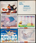 "Movie Posters:Animation, Dumbo (Buena Vista, R-1976). Lobby Card Set of 5 (11"" X 14"").Animation.. ... (Total: 5 Items)"