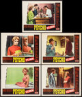 """Movie Posters:Hitchcock, Psycho (Paramount, R-1965). Lobby Cards (5) (11"""" X 14""""). Hitchcock.. ... (Total: 5 Items)"""