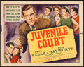 "Movie Posters:Crime, Juvenile Court (Columbia, 1938). Half Sheet (22"" X 28""). Crime.. ..."