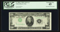 Error Notes:Inverted Third Printings, Fr. 2060-A $20 1950A Federal Reserve Note. PCGS Extremely Fine 45.....