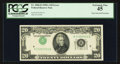 Error Notes:Inverted Third Printings, Fr. 2060-D $20 1950A Federal Reserve Note. PCGS Extremely Fine 45.....