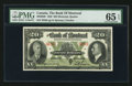 Canadian Currency: , Montreal, PQ- The Bank of Montreal $20 Jan. 3, 1938 Ch # 505-62-06. ...