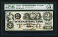 Canadian Currency: , Toronto, ON- The International Bank of Canada $2 Sept. 15, 1858 Ch# 380-10-08-12. ...