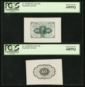 Fractional Currency:First Issue, Fr. 1243SP 10¢ First Issue Wide Margin Pair PCGS Superb Gem New69PPQ and Superb Gem New 68PPQ.. ... (Total: 2 notes)