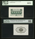 Fractional Currency:First Issue, Fr. 1313SP 50¢ First Issue Wide Margin Pair PCGS Superb Gem New 68PPQ and PMG Gem Unc 66 EPQ.. ... (Total: 2 notes)