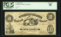 Confederate Notes:1861 Issues, T10 $10 1861 PF-15 Cr. UNL.. ...