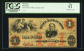Obsoletes By State:Ohio, Marietta, OH- State Bank of Ohio, Marietta Branch $1 June 1, 1861G876a, Wolka 1563-09. ...