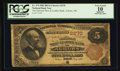 National Bank Notes:Maine, Auburn, ME - $5 1882 Brown Back Fr. 474 The National Shoe &Leather Bank Ch. # 2270. ...