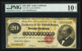 Large Size:Gold Certificates, Fr. 1178 $20 1882 Gold Certificate PMG Very Good 10 Net.. ...