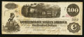 Confederate Notes:1862 Issues, T40 $100 1862 Re-Issued at Houston, TX. . ...