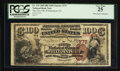 National Bank Notes:Pennsylvania, Williamsport, PA - $100 1882 Brown Back Fr. 519 The First NB Ch. #175. ...