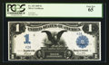 Large Size:Silver Certificates, Fr. 235 $1 1899 Silver Certificate Serial Number Two PCGS Gem New65.. ...