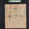 Obsoletes By State:Louisiana, New Orleans, LA- City of New Orleans, State of Louisiana $500 Mar. 20, 1862 Serial Number 1 Bond. ...