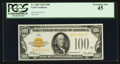Small Size:Gold Certificates, Fr. 2405 $100 1928 Gold Certificate PCGS Extremely Fine 45.. ...
