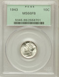 Mercury Dimes: , 1943 10C MS66 Full Bands PCGS. PCGS Population (947/210). NGCCensus: (479/171). Mintage: 191,710,000. Numismedia Wsl. Pric...