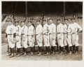 Autographs:Photos, 1927 New York Yankees Pitching Staff Signed Photograph....