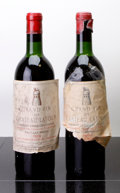 Red Bordeaux, Chateau Latour 1959 . Pauillac. 2vhs, 1ll, 1htal, 2-tapedlabels, 2hcc, 1cuc. Bottle (2). ... (Total: 2 Btls. )