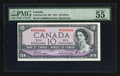 Canadian Currency: , BC-40b $10 1954 with Fancy Serial Number 6000000.. ...