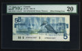 Canadian Currency: , BC-56c $5 1986 Offset Error. ...