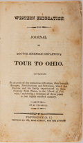 Books:Americana & American History, Jeremiah Simpleton. Tour To Ohio. Trumbull, [n. d.]. Wornplain wrappers with sewn binding. Folding frontis partiall...