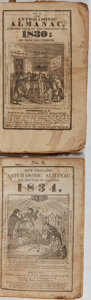 Books:Americana & American History, [Almanacs]. Group of Two Editions of The Anti-MasonicAlmanac. Various, 1830-1834. Some wear and staining, but b...