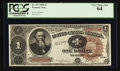 Large Size:Treasury Notes, Fr. 347 $1 1890 Treasury Note PCGS Very Choice New 64.. ...