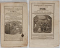 Books:Americana & American History, [Almanacs]. Group of Two Editions of The Temperance Almanac.New-York State Temperance Society, 1834-1836. Some wear...