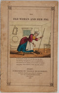 Books:Literature Pre-1900, [Hand-Colored Illustrations]. The Old Woman and Her Pig.Thomas Richardson, 1837. [8] pages. Publisher's wrappers. O...