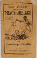 Books:Americana & American History, Mose Skinner. Grand Peace Jubilee and Jewsharp Oratorio. NewEngland News, 1869. 21 pages and ads. Minor rubbing...