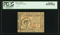 Colonial Notes:Continental Congress Issues, Continental Currency May 9, 1776 $8 PCGS Gem New 65PPQ.. ...