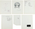 Original Comic Art:Sketches, Dave Berg, Nicola Cuti, John Fantucchio and Others Sketch ...
