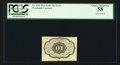 Fractional Currency:First Issue, Fr. 1242 10¢ First Issue Inverted Back Error PCGS Choice About New 58.. ...