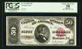 Large Size:Treasury Notes, Fr. 376 $50 1891 Treasury Note PCGS Apparent Choice About New 58. ....