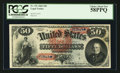 Large Size:Legal Tender Notes, Fr. 151 $50 1869 Legal Tender PCGS Choice About New 58PPQ.. ...
